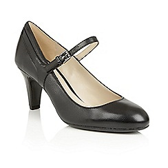 Naturalizer - Black leather 'Orianne' court shoes