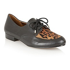 Naturalizer - Black/natural 'Lara' lace up shoes