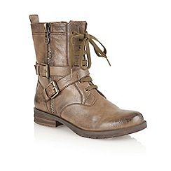 Naturalizer - Taupe 'Bravery' ankle boots