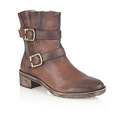 Naturalizer - Brown 'Mona' ankle boots