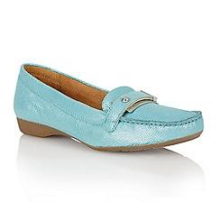 Naturalizer - Turquoise iguana 'Gisella' loafers
