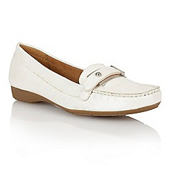 Naturalizer - White iguana 'Gisella' loafers