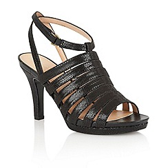 Naturalizer - Black iguana 'Nolana' open toe court shoes