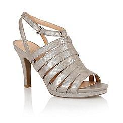 Naturalizer - Grey iguana 'Nolana' open toe court shoes