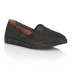 Naturalizer - Black nubuck 'Ivan' loafers