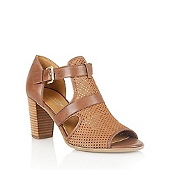 Naturalizer - Tan leather 'Draft' laser cut sandals
