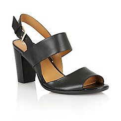 Naturalizer - Black leather 'Dahnny' open toe court shoes