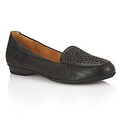 Naturalizer - Black leather 'Sincere' loafers