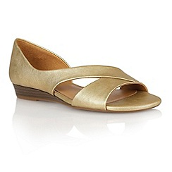 Naturalizer - Gold metallic 'Jazzy' open toe shoes