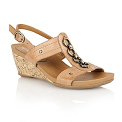Naturalizer - Sand leather 'Sianna' open toe sandals
