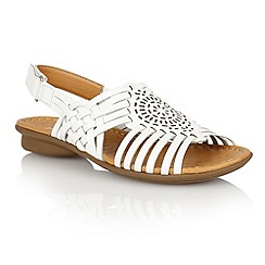 Naturalizer - White 'Wendy' open toe sandals