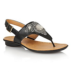 Naturalizer - Black 'Waverly' toe post sandals