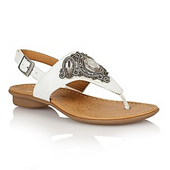 Naturalizer - White 'Waverly' toe post sandals