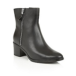 Naturalizer - Black leather 'Harding' ankle boots