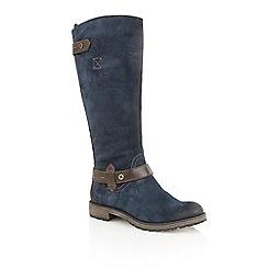 Naturalizer - Navy suede 'Tanita' boots