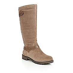 Naturalizer - Taupe suede 'Tanita' boots
