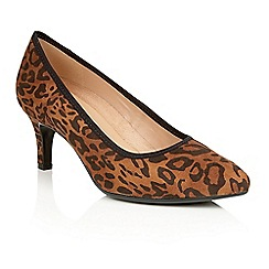 Naturalizer - Leopard microfibre 'Oath' court shoes