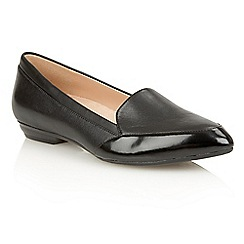 Naturalizer - Black leather 'Peace' flats