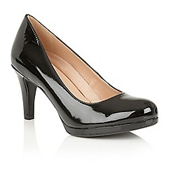 Naturalizer - Black shiny 'Michelle' court shoes