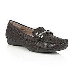 Naturalizer - Black snake 'Gloria' loafers