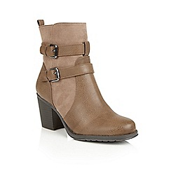 Naturalizer - Taupe 'Transform' ankle boots