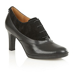 Naturalizer - Black suede leather 'Audrey' court shoes