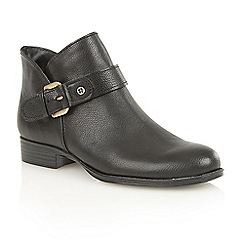 Naturalizer - Black leather 'Jarret' ankle boots
