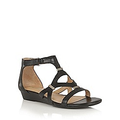 Naturalizer - Black leather 'Juniper' strappy sandals