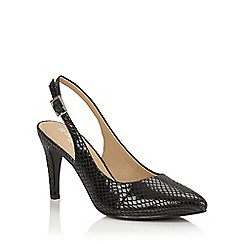 Naturalizer - Black glossy print 'Terah' sling back courts