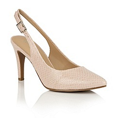 Naturalizer - Nude glossy print 'Terah' sling back courts