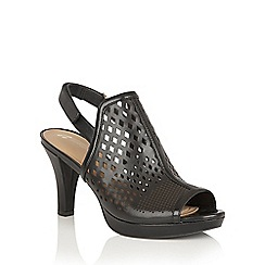 Naturalizer - Black leather 'Pola' open toe sandals