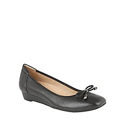 Naturalizer - Black leather 'Dove' ballet flats