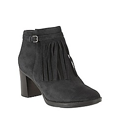 Naturalizer - Black leather 'Fortunate' ankle boots