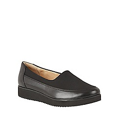 Naturalizer - Black leather 'Neoma' flats