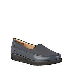 Naturalizer - Blue leather 'Neoma' flats