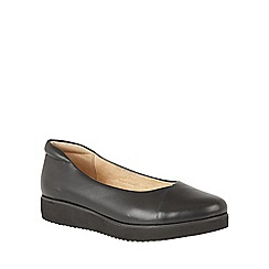 Naturalizer - Black leather 'Nyne' flats