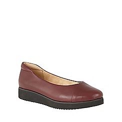 Naturalizer - Red leather 'Nyne' flats