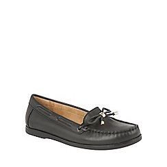 Naturalizer - Black leather 'Hadlie' loafers