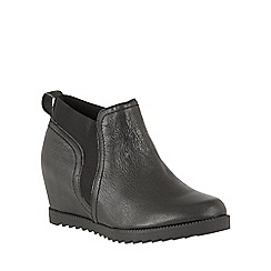 Naturalizer - Black leather 'Darena' shoe boots