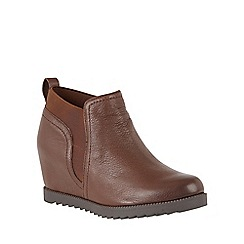 Naturalizer - Brown leather 'Darena' shoe boots