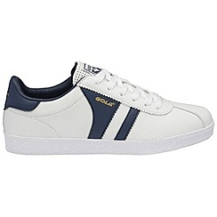 Gola - White/Navy 'Amhurst' trainers