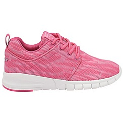 Gola - Pink/White 'Angelo' girls lace up trainers