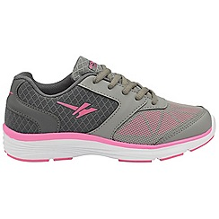 Gola - Grey/Pink 'Geno' girls lace up trainers