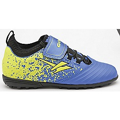 Gola - Blue/Yellow 'Stimson' childrens astroturf trainers