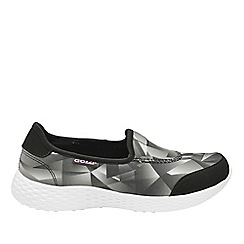 Gola - Black/white 'San Luis' ladies slip on trainers