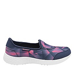 Gola - Navy/pink 'San Luis' ladies slip on trainers