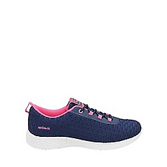 Gola - Navy/pink 'Izzu' ladies lace up trainers