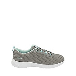 Gola - Grey/mint 'Izzu' ladies lace up trainers
