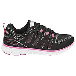 Gola - Black/pink 'Tempe' ladies lace up trainers