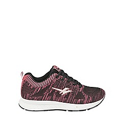 Gola - Black/pink 'Zenith' ladies lace up trainers